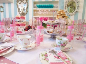 Pink Baby Shower Tea Party Venue