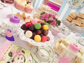 Pink and Purple Baby Shower Afternoon Tea Party