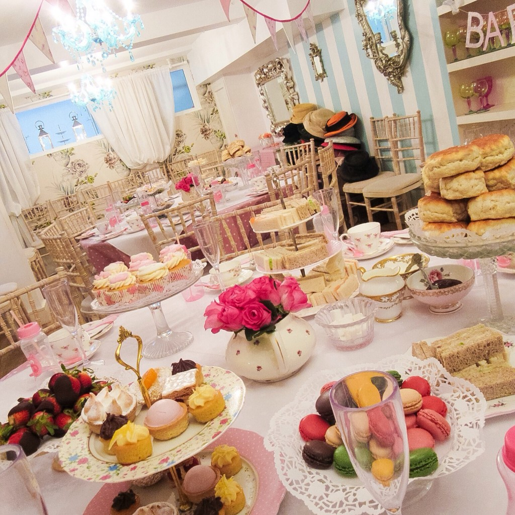 baby shower afternoon tea venue north london - tea party
