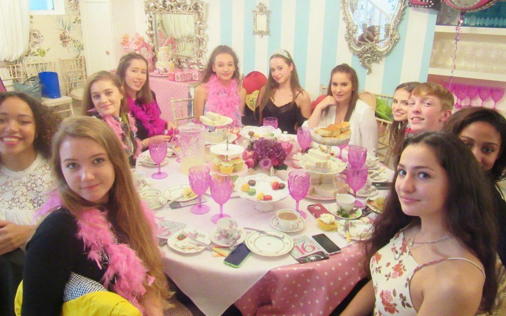 Sweet 16th Birthday Tea Party Girls