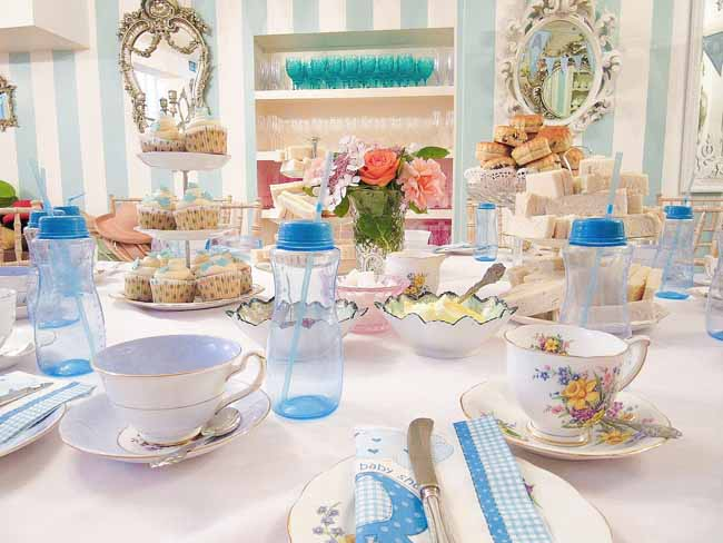 Blue Baby Shower Afternoon Tea Party