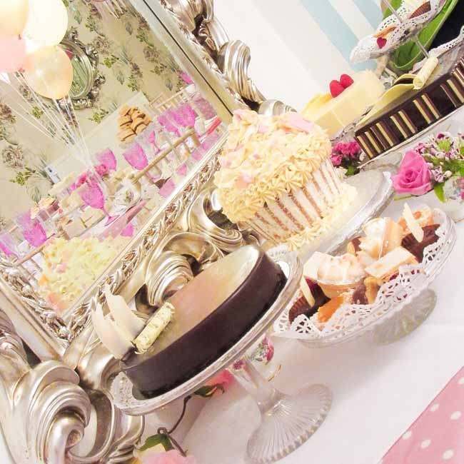 Cake Table at Tea Party Private Venue