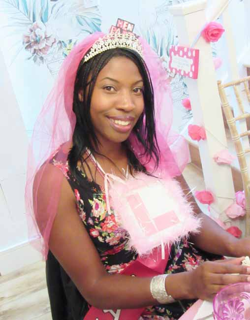 Fabulous Bride to Be at her Hen Party Tea Party
