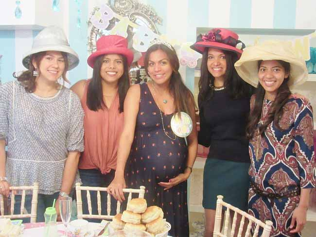 Mum to be and friends Baby Shower at Tea Party London